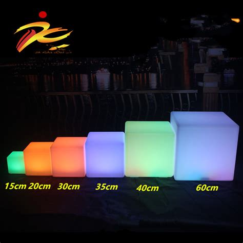 led light cube stool 40cm led cube chair for outdoor led glow cube stools