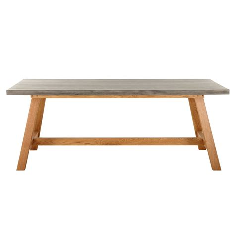 8/10 seater imitation concrete garden table Aquitaine