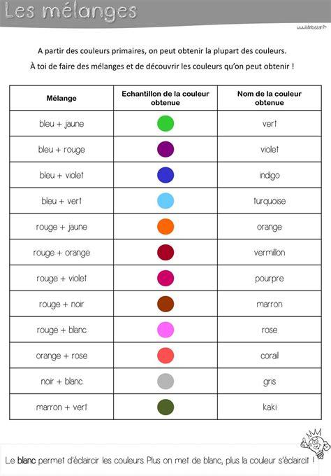 Melange Bleu Et by Les Couleurs Le 178 Troi Couleur 178 Primaire 178 Sont Pdf