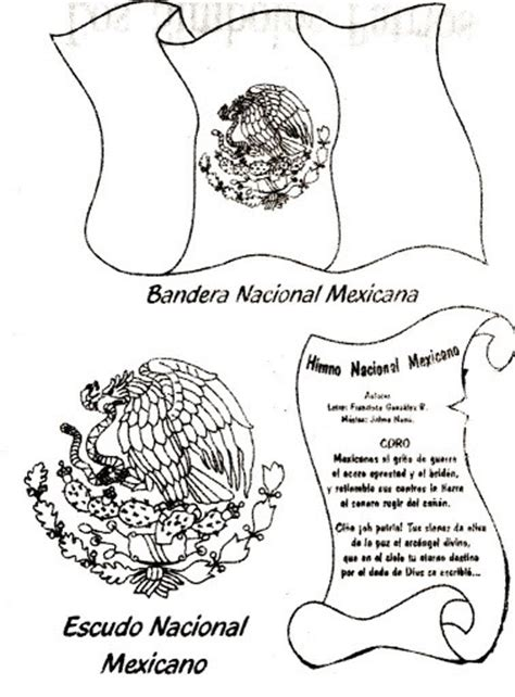simbolos patrios colouring pages free fiestas patrias mexico coloring pages