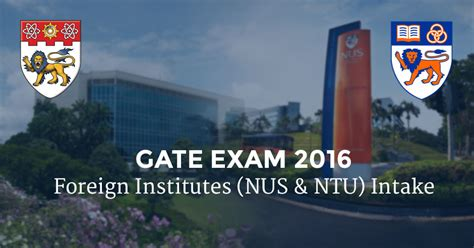 Is Gate Score Valid For Mba by Is It Possible For Me To Get Into Nanyang Or Nus For Mba