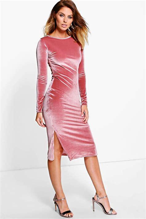 Velvet Mididress boohoo womens beatrice velvet midi bodycon dress ebay