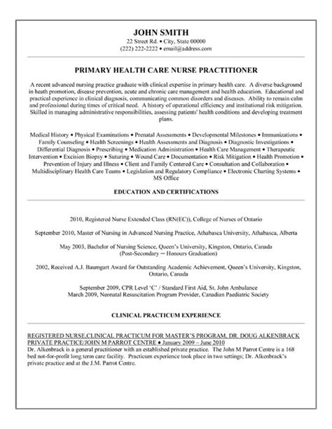 Resume Sles For Emergency Nurses Emergency Practitioner Resume Sales Practitioner Lewesmr