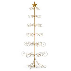 festive metal christmas ornament display tree gold or