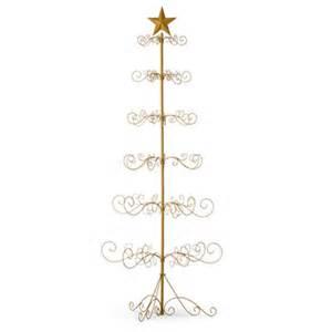 festive metal christmas ornament display tree gold or
