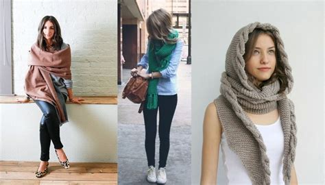 cool ways to tie a scarf in winter