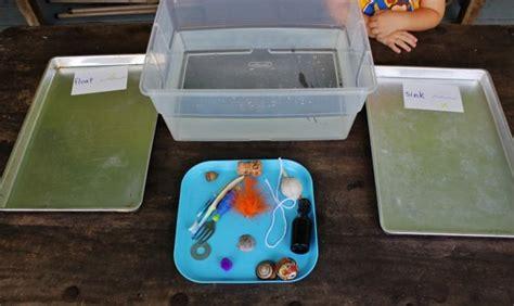 preschool science sink or float no time for flash 15 best preschool tweezers activities images on pinterest