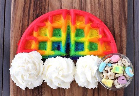 cool things to do with food coloring rainbow food crafts diy recipe breakfast cooking waffles