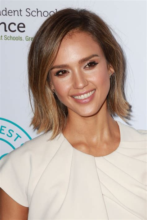 bob hairstyles jessica alba bob length hairstyles 10 celebrities with bobs