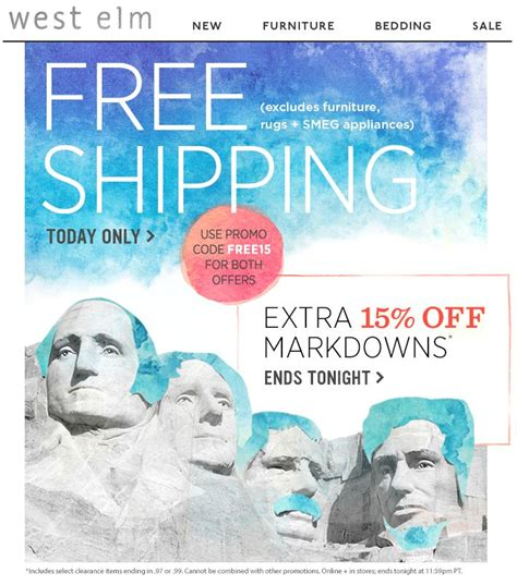 west elm presidents day sale 9 best presidents day marketing images on pinterest