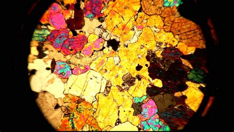 petrographic thin sections a thin section viewed through a petrographic microscope