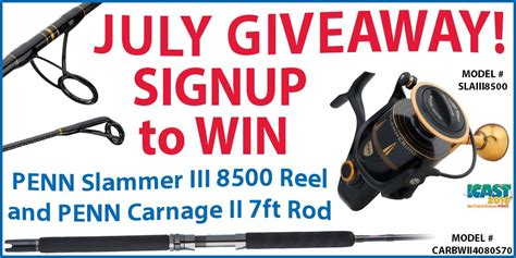 Kayak Giveaway 2017 - penn combo giveaway july 2017 roy s bait and tackle outfitters