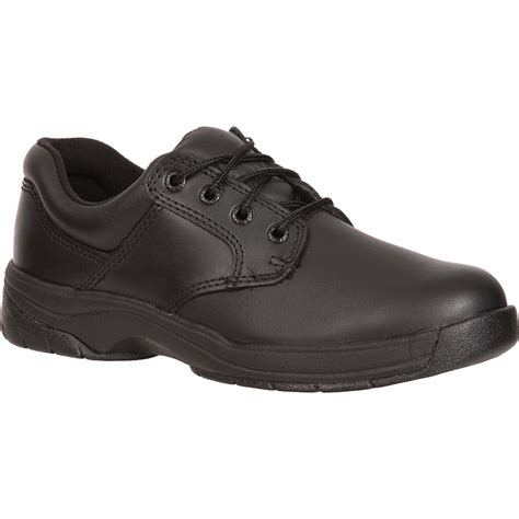 plain black shoes for rocky s slipstop plain toe black oxford duty shoe