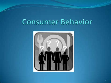 Consumer Behaviour consumer behaviour