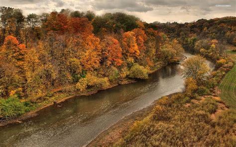 autumn forest river deep cloud wallpapers autumn forest