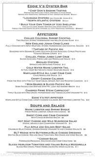 Eddie V S Menu 1 Of 4 Price Lists Menus Eddie V S Prime Seafood