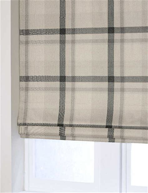 grey and white check curtains curtain oversized check natural grey next made to measure