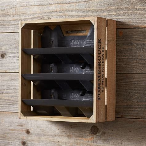 Wine Crate Planter by Wine Crate Vertical Planter Williams Sonoma