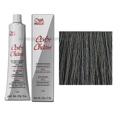wella permanent hair color wella color charm permanent gel 3a 148 ash brown