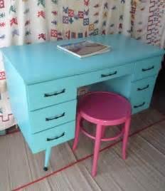 DESK Vintage MID Century Maple Desk Poppy Cottage Painted Furniture Custom PAINT to Order Farmhouse Cottage