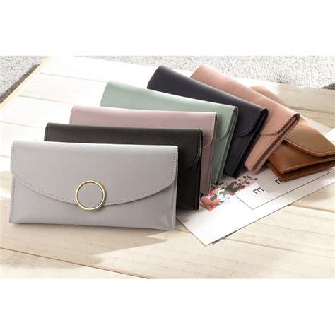 Dompet Notebook dompet wanita solid circle shape bao 042 black