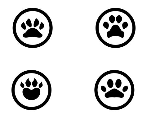 foot print dog animal pet logo  symbols   vectors clipart graphics vector art