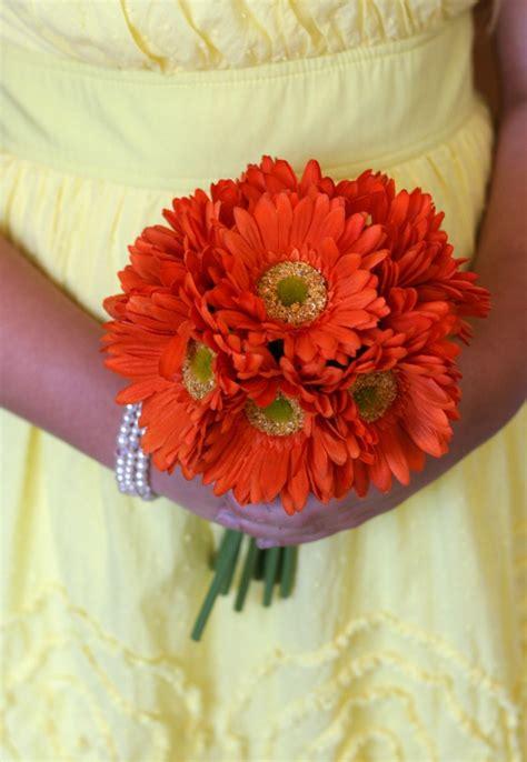 Wedding Bouquets Using Gerberas by Image Gallery Orange Gerbera Centerpieces