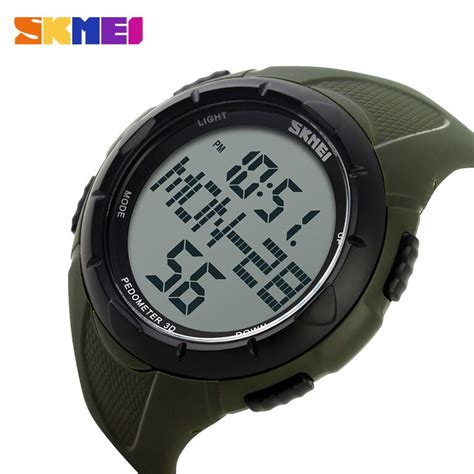 Jam Tangan Swis Army Water Resist skmei jam tangan digital pria dg1122s army green jakartanotebook