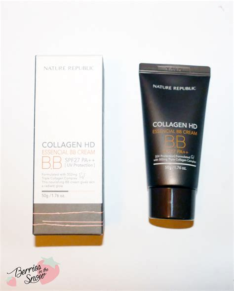 Nature Republic Bb review nature republic collagen hd essencial bb berries in the snow