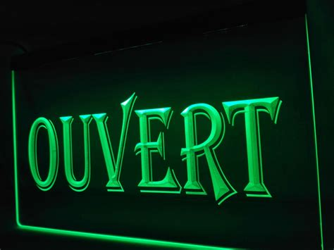 lk162 ouvert open led neon light sign home decor crafts in