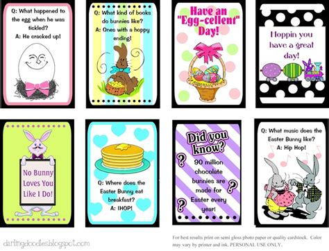printable easter lunch box jokes printable easter lunch box notes there are also links to