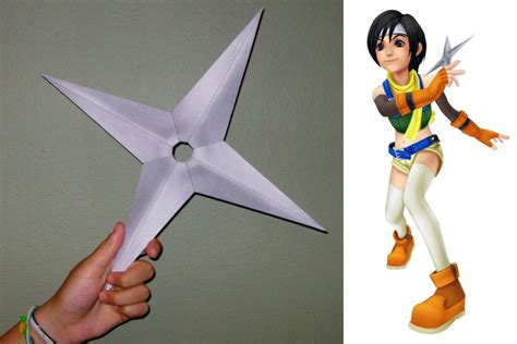 Kingdom Hearts Papercraft - yuffie s shuriken papercraft by tektonten on deviantart