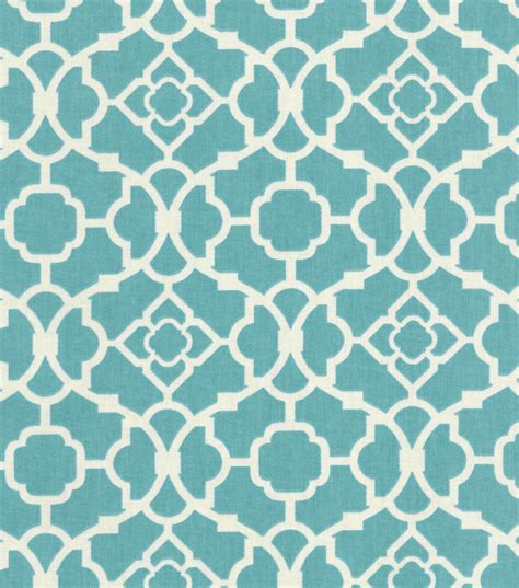 print fabric waverly home decor print fabric lovely lattice aqua at joann