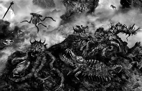 it monster aeron alfrey the mist artwork inspired by stephen king