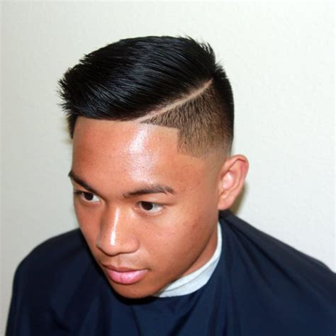asian combover with short sides 30 awesome comb over fade haircuts