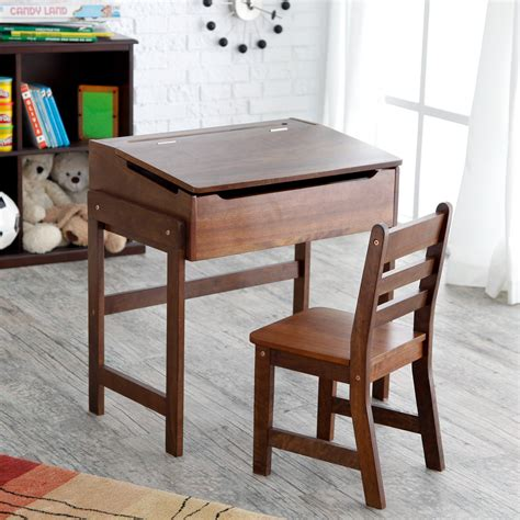 schoolhouse desk and chair set walnut kids desks at