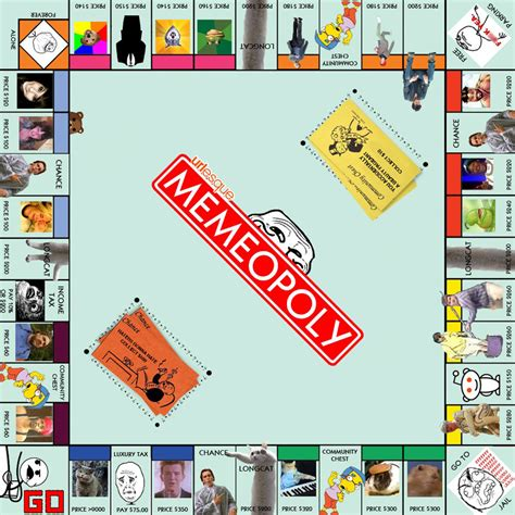 Meme Board - memeopoly the internet board game from urlesque picture