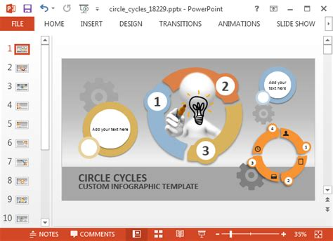 Animierte Kreis Prozess Zyklus Powerpoint Vorlage Process Powerpoint Template