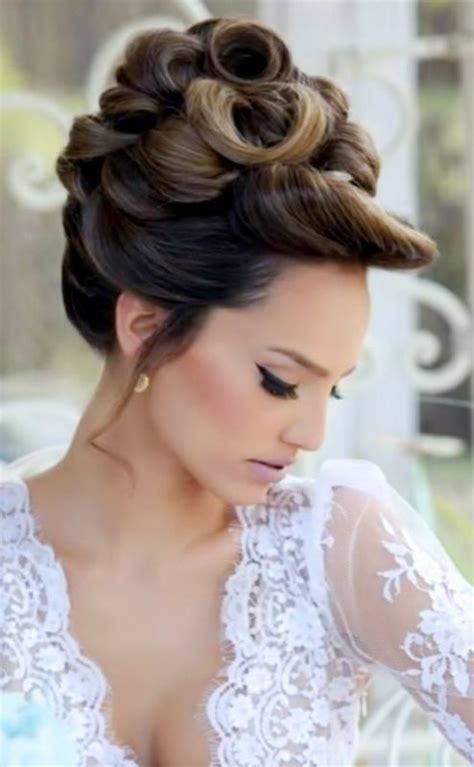 high bun updo wedding trendy wedding hairstyles 2017 2018bride s looped high
