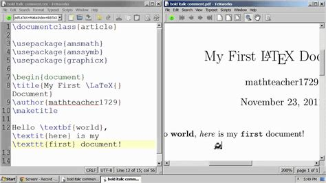 Latex Tutorial Font Size | latex tutorial 02 bold italic fixed width font and