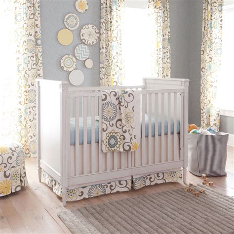Neutral Nursery Curtains Giveaway Carousel Designs Crib Bedding Set