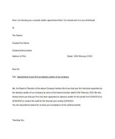 Appointment Letter Of Auditor Appointment Letter Template 31 Free Word Pdf Documents Free Premium Templates