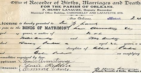 Louisiana Marriage Certificate Records The Louisiana State Archives Houses Orleans Parish