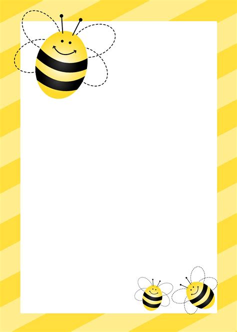 card bee template bumblebee birthday with free printables bee