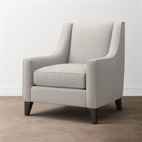 modern accent chair  sloped arms