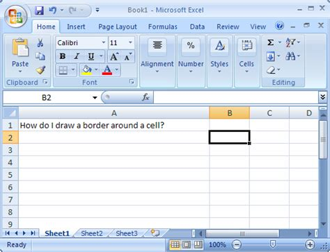 excel 2007 vba format cell borders ms excel 2007 draw a border around a cell