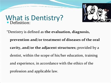 Description Of Dentist by Introduction To Medicine