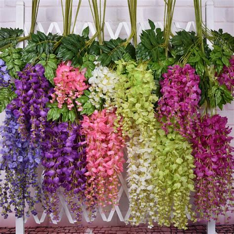 Teh Pucuk Grosir artificial flowers simulation wisteria vine