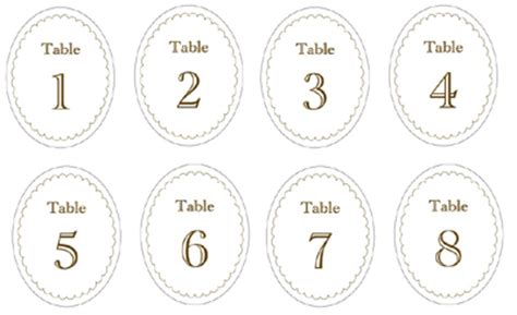 Candy Jar Labels Table Numbers I Do It Yourself 174 Number Labels Template