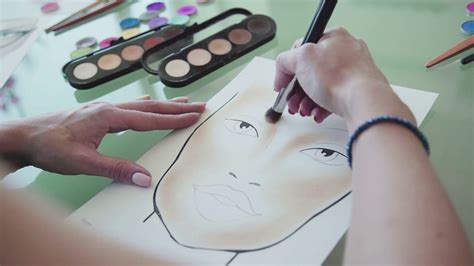 What Makes Up Paper - make up artist creates a make up sketch on the chart